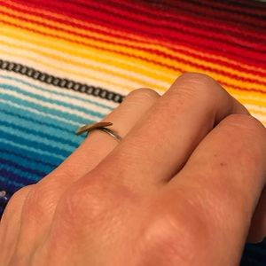 Betsy and Iya Jewelry - Betsy and Iya Mixed Metal Pointed Top Ring